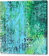 Light Blue Green Abstract Explore By Chakramoon Canvas Print