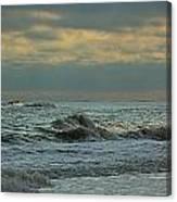 Light Blue Waves Canvas Print