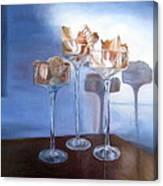 Light Glass And Shells Canvas Print