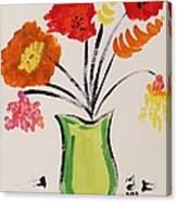 Light Green Vase Canvas Print