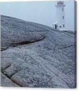 Light House At Peggys Cove Nova Scotia Canvas Print