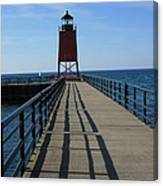 Light House In Charlevoix Mich Canvas Print