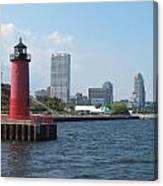 Light House Milwaukee Skyline 1 Canvas Print