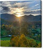 Light In The Valley Canvas Print