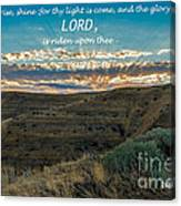 Light Of The Lord Canvas Print