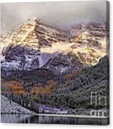 Light On Maroon Bells Canvas Print