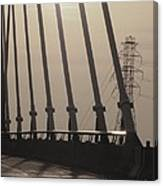 Light On The Bridge Canvas Print
