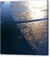 Light On The Ice Canvas Print