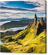 Light On The Storr Canvas Print
