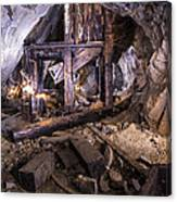 Light Painting In A Gold Mine 2 Canvas Print