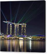 Light Show At Marina Bay Sands Hotel And Casino II Canvas Print