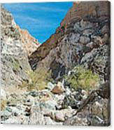 Light Side And Dark Side In Big Painted Canyon In Mecca Hills-ca Canvas Print