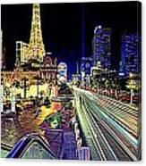 Light Speed Vegas Canvas Print