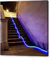 Light Trail On Steps Canvas Print