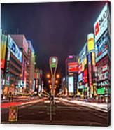 Light Trails In Susukino Canvas Print