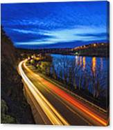 Light Trails On 99e Canvas Print