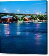 Light Up The Peace Bridge Canvas Print
