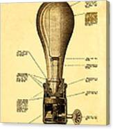 Lightbulb Patent Canvas Print