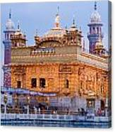 Lighted Golden Temple Canvas Print