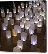 Lighted Lantern Bags Canvas Print