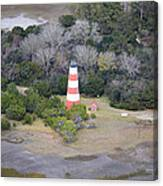Lighthouse Aerial Near Jekyll Island Canvas Print