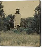 Erie Lighthouse Among The Trees Canvas Print