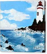 Lighthouse And Sunkers Canvas Print