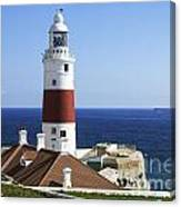 Lighthouse At Europa Point Gibraltar Canvas Print
