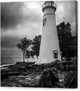 Lighthouse At Marblehead Canvas Print
