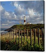 Lighthouse At Montauk With Dramatic Sky Canvas Print