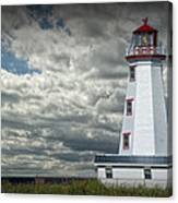 Lighthouse At North Cape On Prince Edward Island Canvas Print
