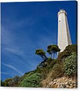 Lighthouse At Saint-jean-cap-ferrat France French Riviera Canvas Print