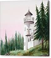 Lighthouse At Sunrise Canvas Print