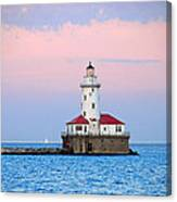 Lighthouse At The Navy Pier Canvas Print