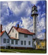 Lighthouse At Whitefish Point Canvas Print