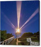 Lighthouse Beams By The Southern Cross Canvas Print