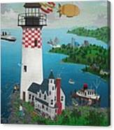 Lighthouse Fishing Canvas Print