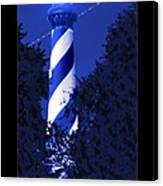 Lighthouse In Blue Canvas Print