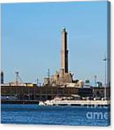 Lighthouse In Genova. Italy Canvas Print