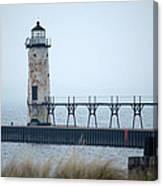 Lighthouse In Haze Canvas Print