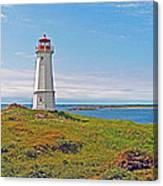 Lighthouse In Louisbourgh-ns Canvas Print