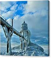 Lighthouse In Saint Joseph Michigan Canvas Print