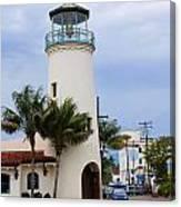 Lighthouse In Santa Barbara Street Canvas Print