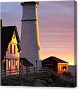 Lighthouse In The Morning Canvas Print