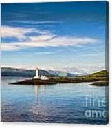 Lighthouse Near Oban In Scotland Canvas Print