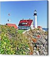 Lighthouse Of Maine Canvas Print