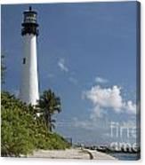 Lighthouse On A Sunny Day Canvas Print