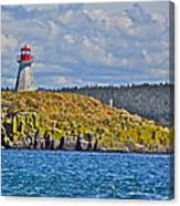 Lighthouse On Brier Island In Digby Neck-ns Canvas Print