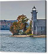 Lighthouse On Grand Island Michigan Canvas Print