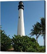 Lighthouse On Key Biscayne Canvas Print